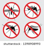 set of prohibited aedes aegypti ... | Shutterstock .eps vector #1398908993