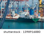 industrial port  infrastructure ... | Shutterstock . vector #1398916880