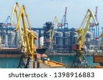 industrial port  infrastructure ... | Shutterstock . vector #1398916883