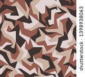 geometric camouflage pattern ... | Shutterstock .eps vector #1398938063