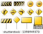 road signs. traffic rules.... | Shutterstock .eps vector #1398949373