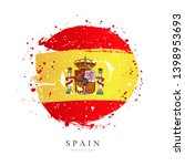 spanish flag in the shape of a... | Shutterstock .eps vector #1398953693