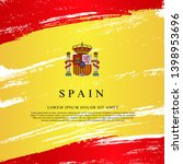 flag of spain. vector... | Shutterstock .eps vector #1398953696