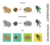 vector illustration of wildlife ... | Shutterstock .eps vector #1398954380