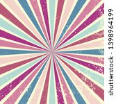 retro starburst or sunburst... | Shutterstock .eps vector #1398964199