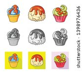 vector design of confectionery... | Shutterstock .eps vector #1398976436