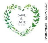 wedding floral invite ... | Shutterstock .eps vector #1398977660