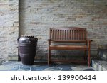 Bench Against Brick Wall