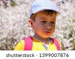 cute handsome caucasian child... | Shutterstock . vector #1399007876