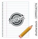 physician pencil emblem. vector ...   Shutterstock .eps vector #1399016276