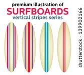 surfboards design. vertical... | Shutterstock .eps vector #139902166