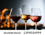 glasses with different wines... | Shutterstock . vector #1399034999