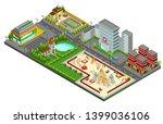 isometric cityscape concept... | Shutterstock .eps vector #1399036106