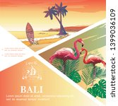 sketch bali vacation template... | Shutterstock .eps vector #1399036109