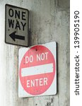 one way sign and do not enter... | Shutterstock . vector #139905190
