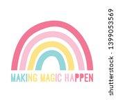 hand drawing rainbow...   Shutterstock .eps vector #1399053569