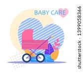 baby care lettering flat banner ... | Shutterstock .eps vector #1399058366