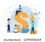 salespeople and earnings online ... | Shutterstock .eps vector #1399058369
