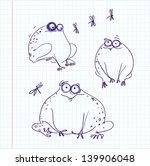frogs | Shutterstock .eps vector #139906048