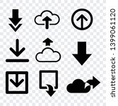 download icons flat  black... | Shutterstock .eps vector #1399061120