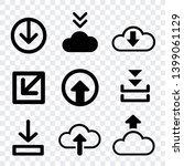 arrows download vector icons... | Shutterstock .eps vector #1399061129