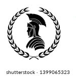 roman centurion icon in laurel... | Shutterstock . vector #1399065323