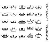 crown icon set heraldic symbol  ... | Shutterstock . vector #1399066766