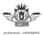 angry bear with a crown on his... | Shutterstock . vector #1399068953