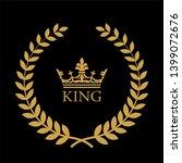 heraldic symbol crown in laurel ... | Shutterstock . vector #1399072676