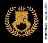 heraldic shield symbol in... | Shutterstock . vector #1399073390