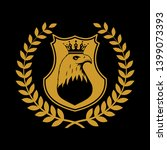 heraldic shield symbol in... | Shutterstock . vector #1399073393