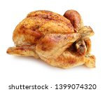 Grilled Whole Chicken Isolated...