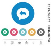 reply message flat white icons...   Shutterstock .eps vector #1399076576