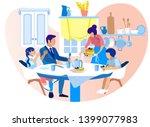 happy family sitting around... | Shutterstock .eps vector #1399077983