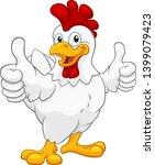 a chicken cartoon rooster...   Shutterstock .eps vector #1399079423