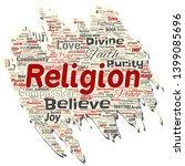vector conceptual religion  god ... | Shutterstock .eps vector #1399085696