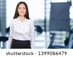 business woman smiling. close... | Shutterstock . vector #1399086479