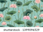 seamless pattern with pink... | Shutterstock .eps vector #1399096529