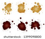 collection of artistic grungy... | Shutterstock . vector #1399098800