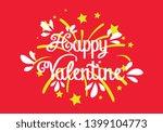 happy valentine  beautiful... | Shutterstock .eps vector #1399104773