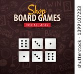 Board Games Banner With Dices....