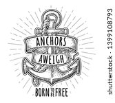 Anchor With Ribbon And Rope...