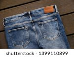 close up back of denim blue... | Shutterstock . vector #1399110899