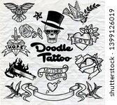 old school  tattoo   icons set... | Shutterstock . vector #1399126019