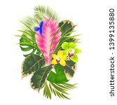 tropical flowers  floral... | Shutterstock .eps vector #1399135880