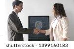 two business partner shake... | Shutterstock . vector #1399160183