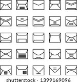 mail and envelope thin line... | Shutterstock .eps vector #1399169096