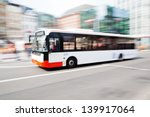 driving bus in city traffic in... | Shutterstock . vector #139917064