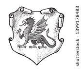 animal for heraldry in vintage... | Shutterstock .eps vector #1399178483