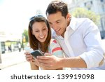 couple of tourists in madrid... | Shutterstock . vector #139919098